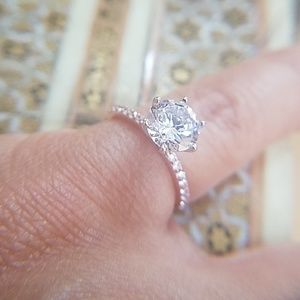 Jewelry - 14k Rose Gold 1.5ct Round Engagement Ring